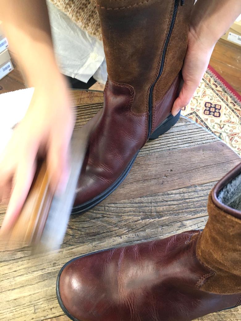 革靴のお手入れ8